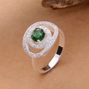 Jewelry - 925 Stamped Sterling Silver Emerald Ring